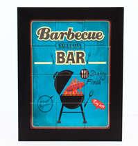 Quadro com Azulejos - Barbecue Bar