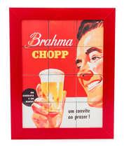 Quadro com Azulejos - Brahma Chopp