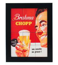 Quadro com Azulejos - Brahma Chopp PRT