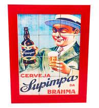 Quadro com Azulejos - Brahma Supimpa