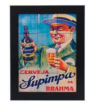 Quadro com Azulejos - Brahma Supimpa PRT