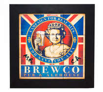 Quadro com Azulejos - God Save the Ales