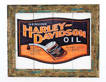 Quadro com Azulejos - Harley Davidson Oil