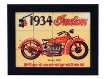 Quadro com Azulejos - Indian 1934