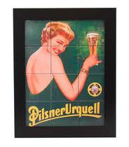 Quadro com Azulejos - Pilsner Urquell