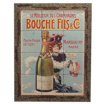 Quadro com Azulejos e Moldura Rústica - Champagne