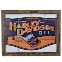 Quadro com Azulejos - Harley Davidson - 35x45 cm