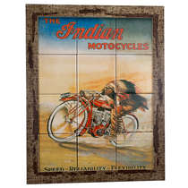 Quadro com Azulejos - Indian Motorcycles