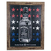 Quadro com Azulejos - Jack Daniel's - 45x35 cm