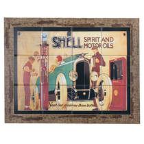 Quadro com Azulejos - Shell - 35x45 cm