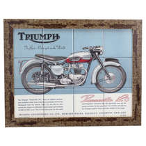 Quadro com Azulejos - Triumph - 35x45 cm