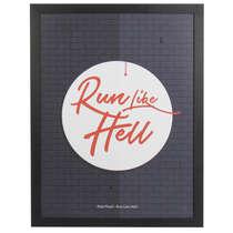 Quadro com Moldura Preta - Run Like Hell