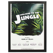 Quadro com Moldura Preta - Welcome to the Jungle 44x33 cm