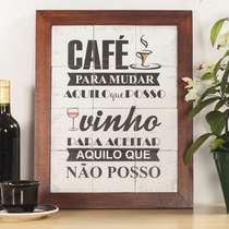 Quadro de Azulejos - Café e Vinho - 47 x 37 cm