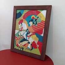 Quadro de Azulejos - São Jorge - 47 x 37 cm