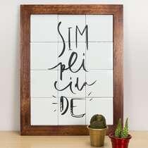 Quadro de Azulejos - Simplicidade - 47 x 37 cm