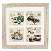 Quadro Decorativo de MDF Vintage - Cars