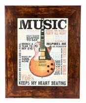 Quadro em madeira - Music