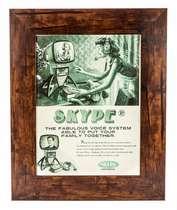 Quadro em madeira - Skype