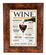 Quadro em madeira - Wine From Around World