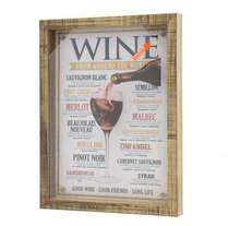Quadro porta rolhas  - Vinho pelo mundo