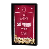Quadro porta-rolhas de garrafas de vinhos - 100 rolhas - Antes só