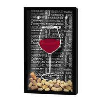 Quadro porta rolhas - Estilos de vinhos