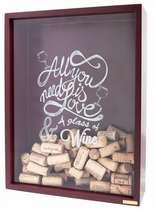 Quadro porta rolhas de garrafas de vinhos - 200 rolhas - All you Need (Bordô)