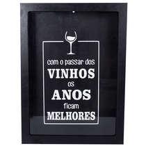 Quadro porta rolhas de garrafas de vinhos -  150 rolhas - Com o Passar dos Vinhos