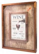 Quadro porta rolhas de garrafas de vinhos -  150 rolhas - Wine from Around the World