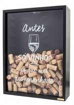 Quadro porta rolhas de garrafas de vinhos -  200 rolhas - Antes só vinho
