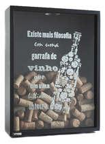 Quadro porta rolhas de garrafas de vinhos -  200 rolhas - A Filosofia