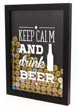Quadro porta-tampinhas - Drink a Beer