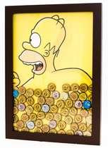 Quadro porta-tampinhas - Homer Simpson