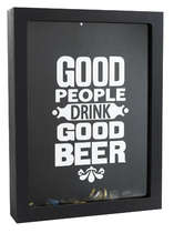 Quadro Porta Tampinhas - Good People Drink Good Beer