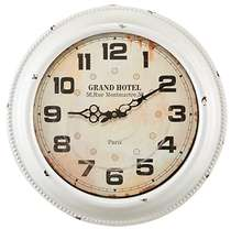 Relógio Metal Branco Montmartre - 42 cm