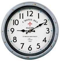 Relógio Metal Cinza - L´Hotel des Fleurs - 30 cm