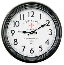 Relógio Metal Preto - L´Hotel des Fleurs - 30 cm