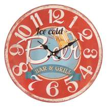 Relógio Metal Relevo - Bar & Grill - 40 cm
