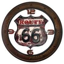 Relógio Metal Route 66 - 60 cm diâmetro