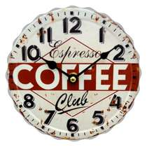 Relógio Metal - Espresso Club - 20 cm