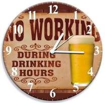 Relógio No Working - 28 cm de diâmetro