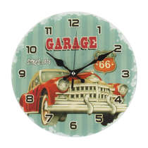 Relógio Parede Vidro - The Garage
