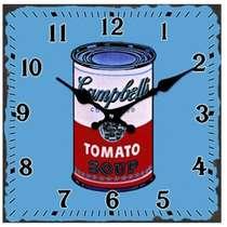 Relógio Vidro Campbell´s (Azul) - 15 x 15 cm