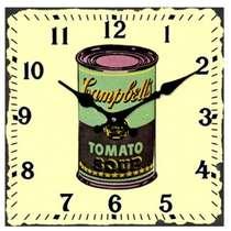 Relógio Vidro Campbell´s - 15 x 15 cm