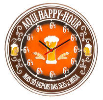 Relógio - Happy 6 e meia - 30 cm