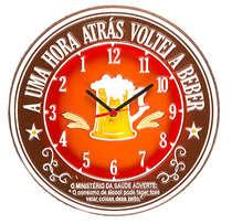 Relógio - Votei a Beber - 30 cm