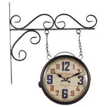 Relógio de Parede Estação - Dupla Face - Paris France