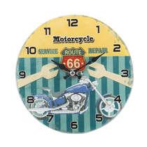 Relógio para mesa de vidro - Motorcycle - 17 cm