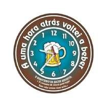 Relógio em MDF - A uma hora voltei a beber